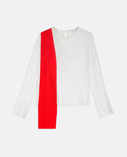 Stella McCartney Contrasting Silk Top 2018 Collection  Ladies
