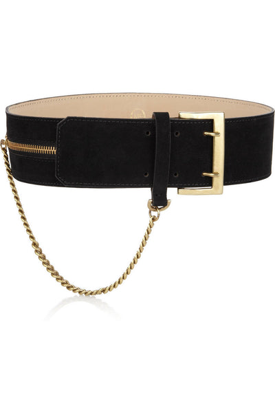 Alexander McQueen McQ Chain and velvet waist belt Ladies
