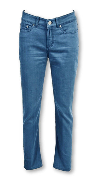 LORO PIANA Blue Mid Waist Straight Leg Jeans Denim Pants I 40 Ladies