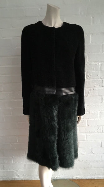 Mulberry Paneled shearling coat $5,000 Size UK 8 US 6 S Small jacket Ladies