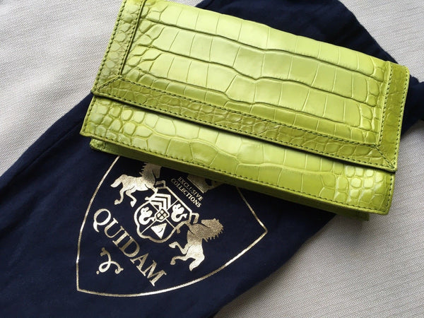 QUIDAM Limited Edition Crocodile Clutch Bag £7,000 Danish & Swedish Royals Fav Ladies
