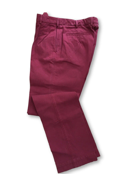 BURBERRY London Men's Red Corduroy Trousers Pants Size 50 MEN