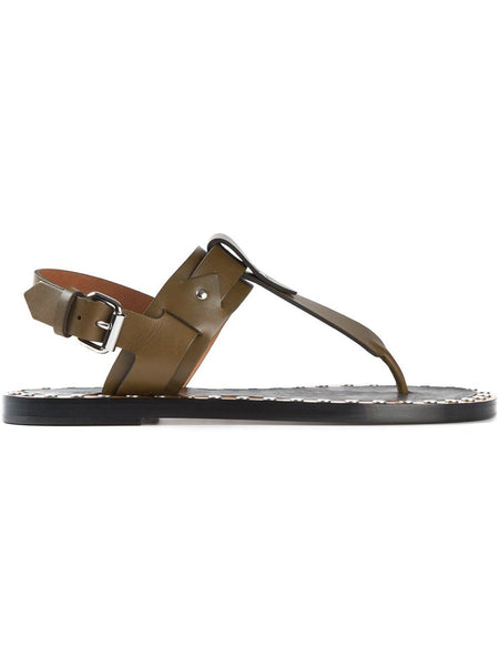 ISABEL MARANT Jewel leather flat sandals shoes Ladies