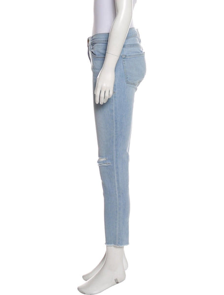 FRAME Le Skinny de Jeanne distressed mid-rise jeans pants trousers  Ladies