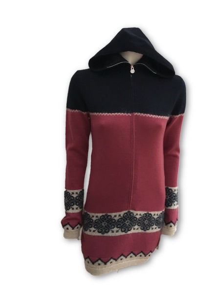 CHANEL 2013 PARIS WOOL MOHAIR HOODED SWEATER DRESS  Ladies