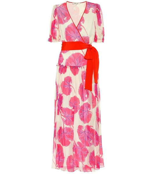 Diane von Furstenberg 2020 Breeze printed silk chiffon maxi dress Size S Small Ladies