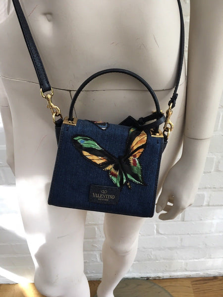 Valentino My Rockstud Small Butterfly Embroidered Bag Ladies