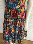 Dolce & Gabbana Floral-print cotton Sicilian style dress Size I 40 UK 8 US 4 S Ladies