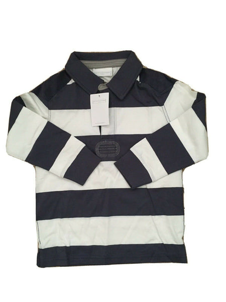 the little white company striped rugby top size 5-6 years children