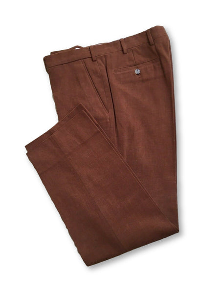 LORO PIANA Brown Cotton Trousers Pants Men