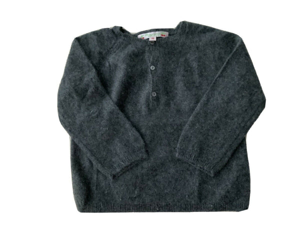 BONPOINT Boys' Cashmere Charcoal Jumper Sweater Size 18 month children