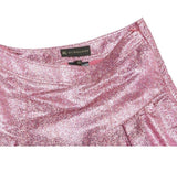 BURBERRY PRORSUM PINK JACQUARD METALLIC MID-LENGTH SKIRT LADIES