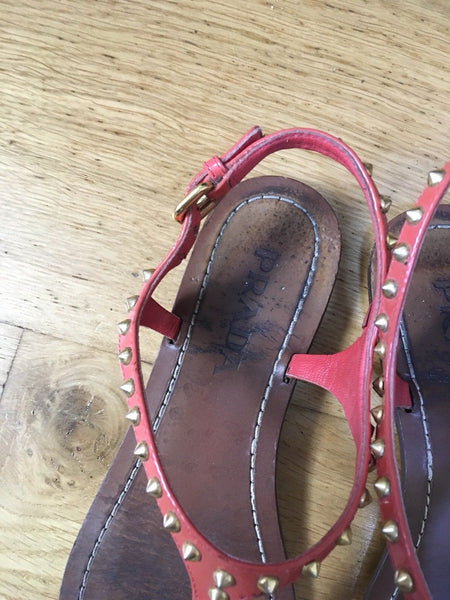 PRADA EMBELLISHED THONG SANDALS SHOES Size 35 1/2 UK 2 1/2 US 5 1/2 Ladies
