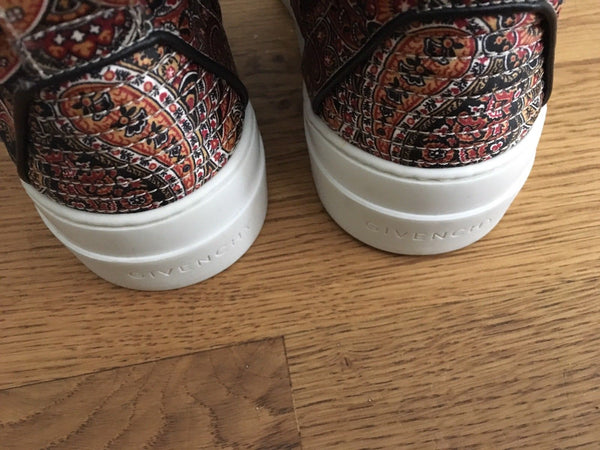 GIVENCHY Printed silk-twill high-top 2017 sneakers Trainers Shoes Ladies