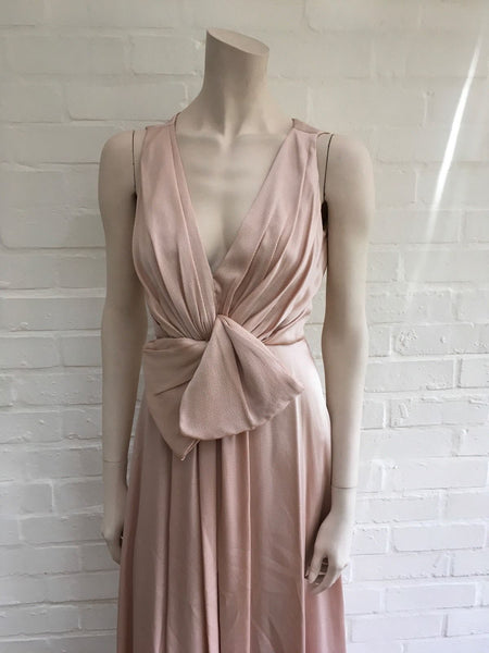JENNY PACKHAM RUNAWAY HAUTE COUTURE SILK EVENING GOWN DRESS LADIES