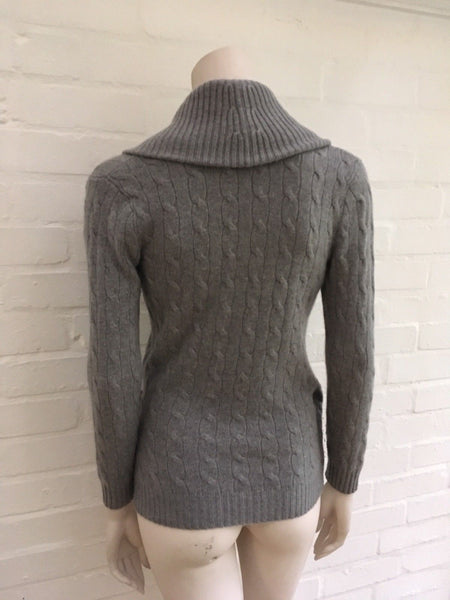 Ralph Lauren Black Label Grey Cashmere Jumper Sweater Slim Fit LADIES