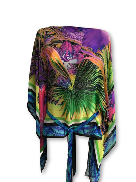 ROBERTO CAVALLI Printed silk kaftan Size I 42 UK 10 US 6 ladies