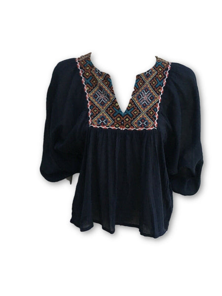 Ralph Lauren Denim & Supply Embroidered Tunic Shirt Blouse Top Ladies