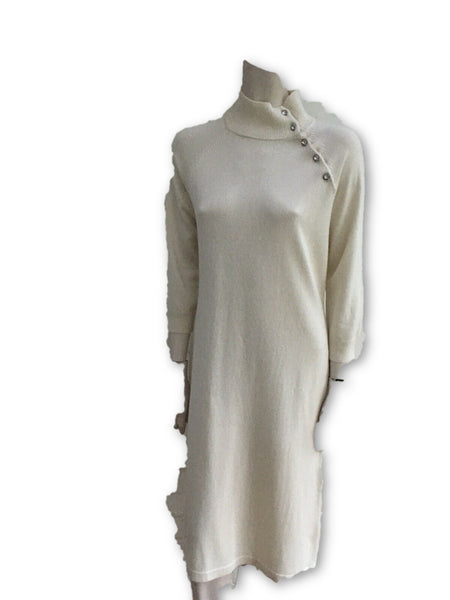 Ralph Lauren Turtleneck Cashmere Silk Cashmere Sweater Dress Ladies