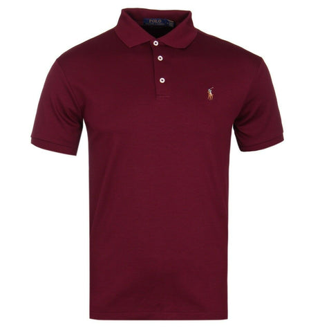 Ralph Lauren POLO Custom Fit Pony Polo In Burgundy T shirt Shirt MEN