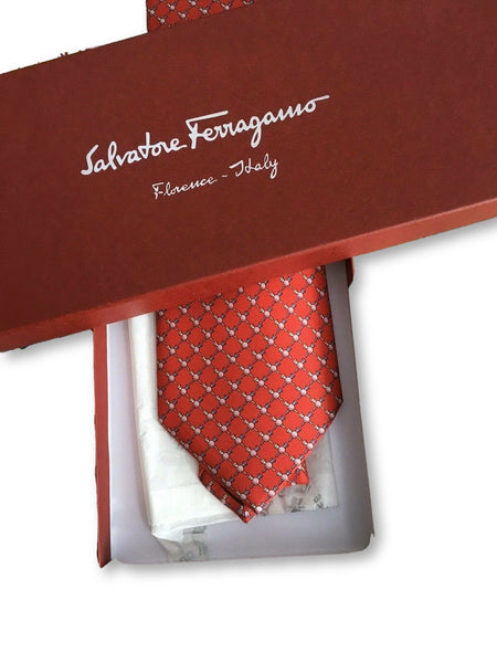 Salvatore Ferragamo Silk Printed Tie men