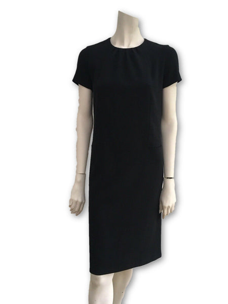 Yves Saint Laurent Little Black Dress LBD Wool Amazing Ladies