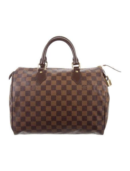 LOUIS VUITTON DAMIER EBENE SPEEDY 30 BAG HANDBAG LADIES
