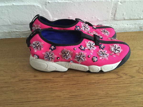 CHRISTIAN DIOR FUSION SLUP ON SNEAKERS TRAINERS SHOES SIZE 37 US 7 UK 4 LADIES