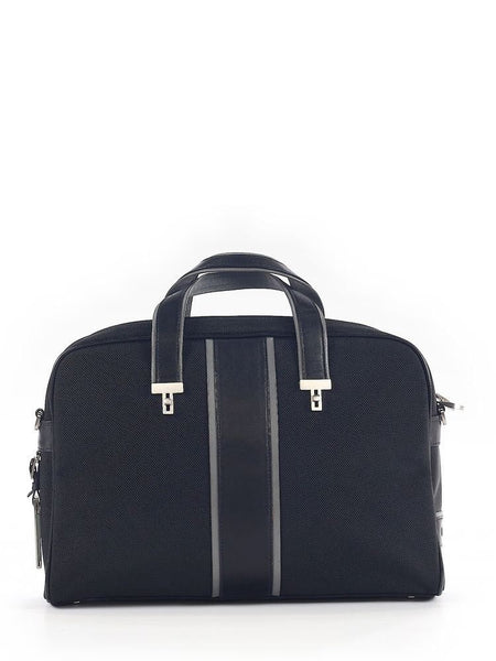 Tumi International Leather-Trimmed Laptop Case Handbag Bag Men