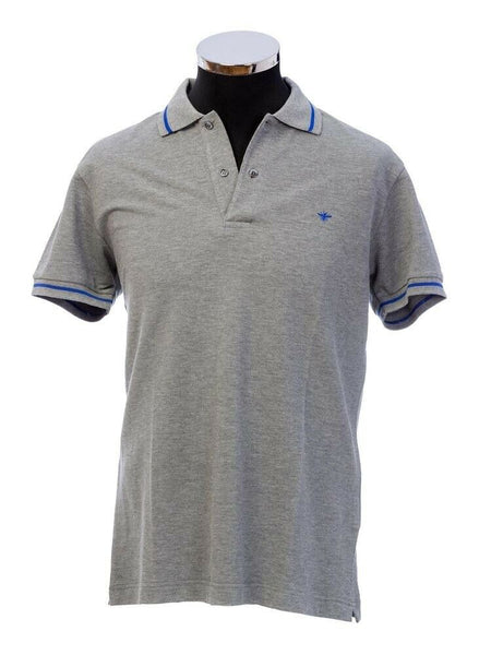 DIOR Piqué Polo Shirt in Grey T-shirt Top Size L Large Men