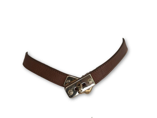 Burberry London Brown Leather Belt Size 36 / 90 LADIES