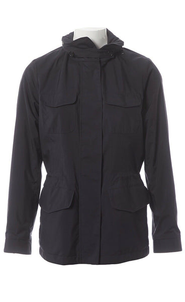 Loro Piana Traveller Windmate Jacket Navy Dark Blue Size I 44 Ladies