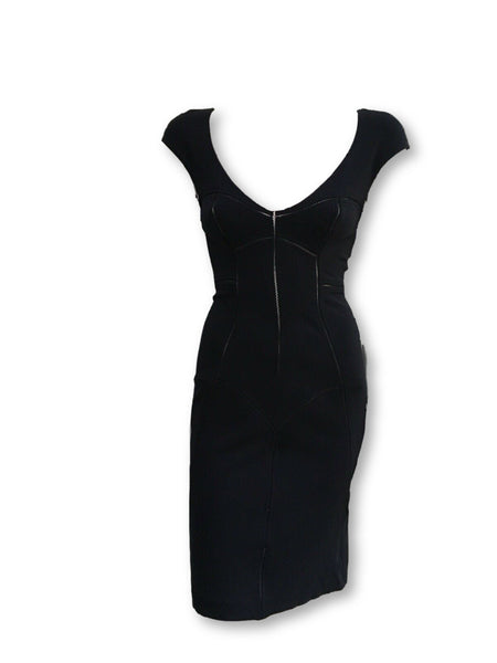 Dolce & Gabbana D&G Black Bodycon Stretch LBD Little Black Dress Ladies