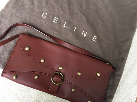 Céline studded leather pochette bag clutch Very Rare MIchael Kors Era Ladies