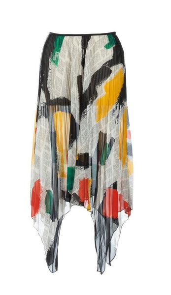 CÉLINE Celine Phoebe Philo Silk Newspaper Skirt Size F 38 ladies