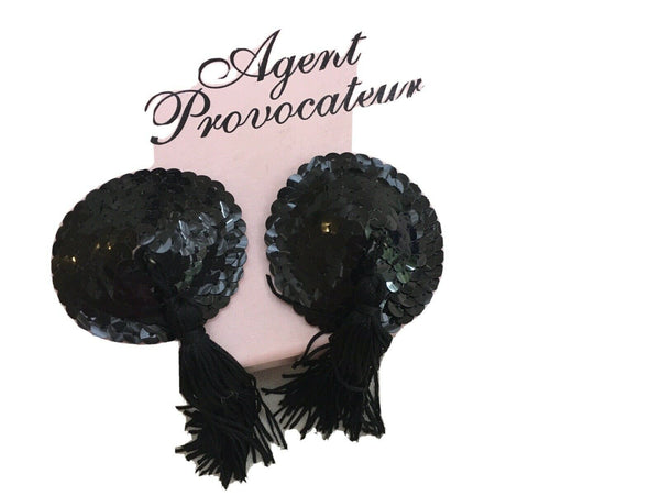Agent Provocateur Black Sequin Tassel Nipple Pasties ladies