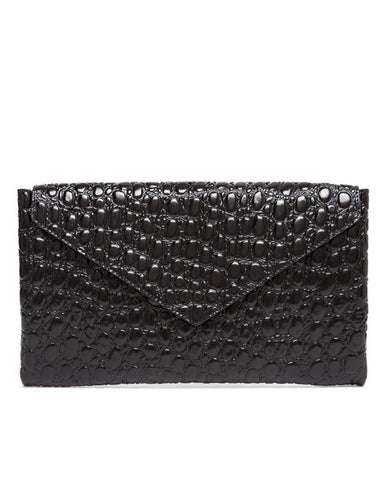 Azzedine Alaïa Alaia Croc-effect patent-leather pouch envelope clutch bag Ladies