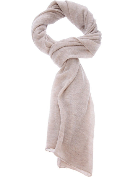 JOSEPH Cashmere Medium Size in Natural Fine Knit SCARF SHAWL Ladies