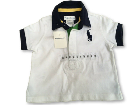 RALPH LAUREN Boys' Polo Short Sleeve Top T shirt Big Pony Size 3 month Children