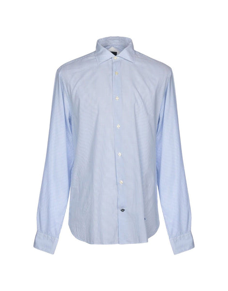 HENRY COTTON'S LONG SLEEVE BUTTON-UP STRIPED SHIRT SIZE 40 MEN