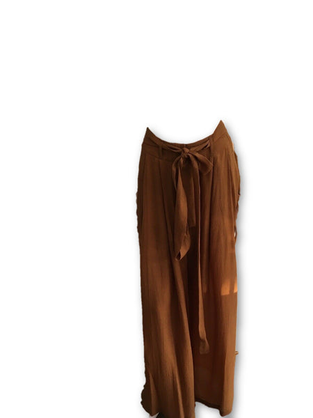 Jasmine Di Milo Rust Brown Wide Leg Pants Trousers  Ladies