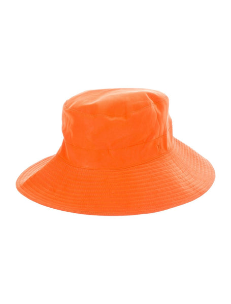 Hermès Hermes Paris orange cotton rain waterproof bucket hat