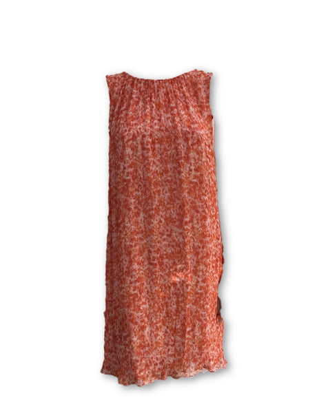 ADAM by ADAM LIPPES Orange Silk Pleated Dress Ladies
