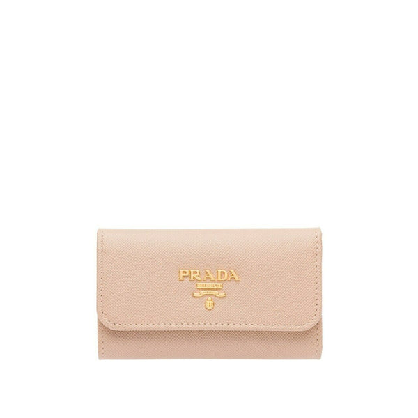 PRADA Saffiano Leather 6 Key Holder Wallet Keyholder Ladies
