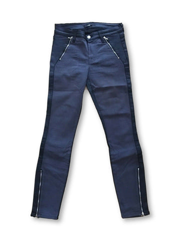 7 for all Mankind Zip Pocket Coated Sateen Skinny Jean JEANS Pants Trousers Ladies