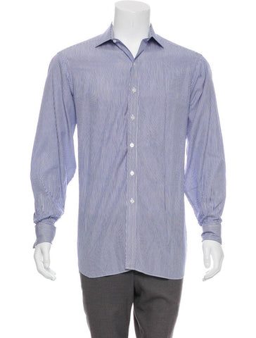 "BOSS HUGO BOSS REGULAR FIT LONG SLEEVE BUTTON-UP SHIRT SIZE 41 16"" men"