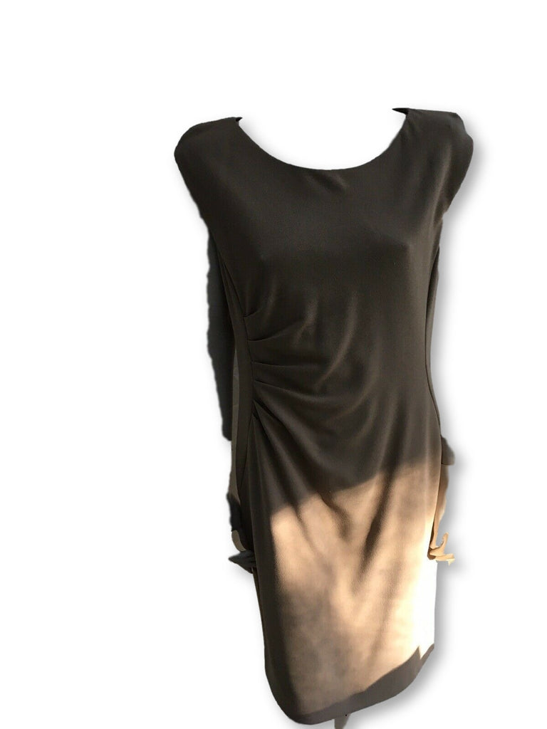 Phase Eight Womens Dress BIANCA Crepe Short Sleeve Camel Brown UK 14  Ladir