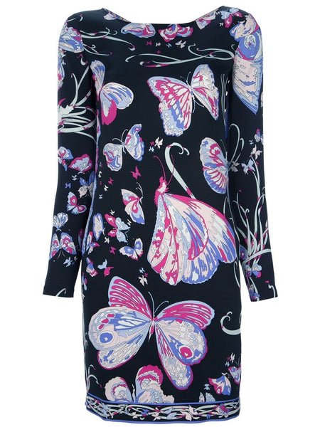 Emilio Pucci silk women's butterfly printed dress I 42 UK 10 US 8 Ladies