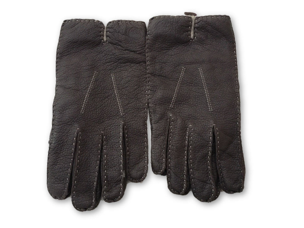 Timberland Mens Leather Gloves Wool Cashmere Lining Embossed Timberland Logo MEN