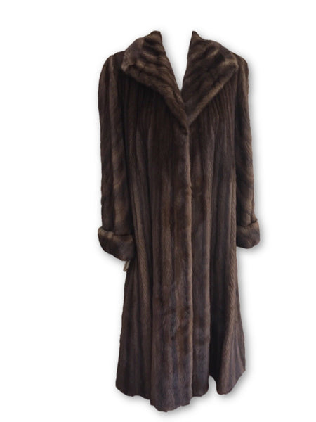 SORBARA NEIMAN MARCUS MINK FULL LENGTH FUR COAT SIZE UK 12 -14 US 8-10 Ladies